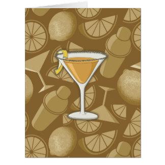 Sidecar cocktail card