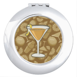 Sidecar cocktail compact mirror