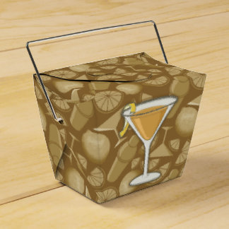 Sidecar cocktail favor box