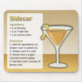 Sidecar cocktail mouse pad