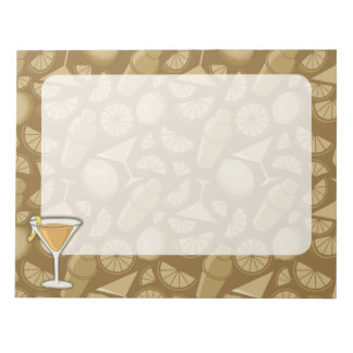 Sidecar cocktail notepad