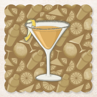 Sidecar cocktail paper coaster