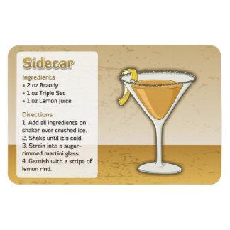 Sidecar cocktail rectangular photo magnet