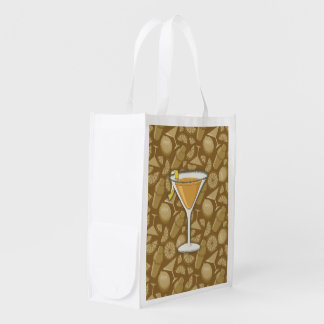 Sidecar cocktail reusable grocery bag