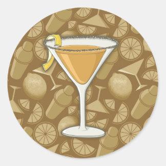 Sidecar cocktail round sticker