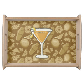 Sidecar cocktail serving tray