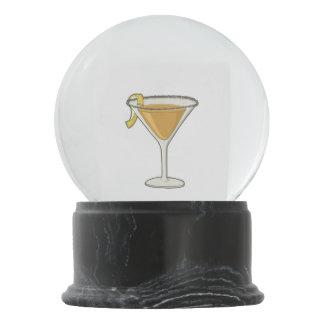 Sidecar cocktail snow globe