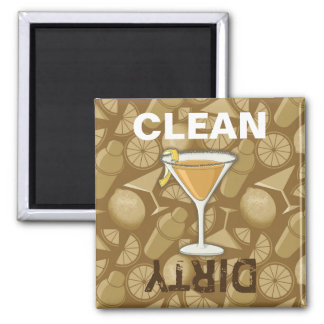 Sidecar cocktail square magnet