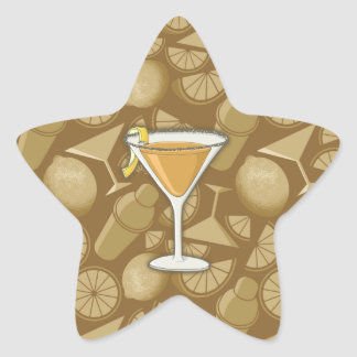 Sidecar cocktail star sticker