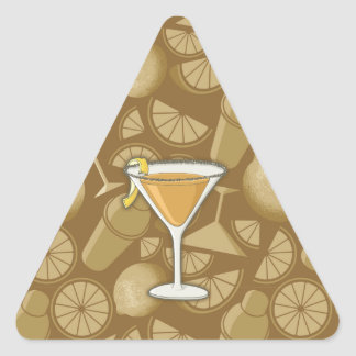 Sidecar cocktail triangle sticker
