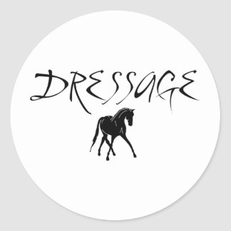 Sidepass Horse With Dressage Text Classic Round Sticker