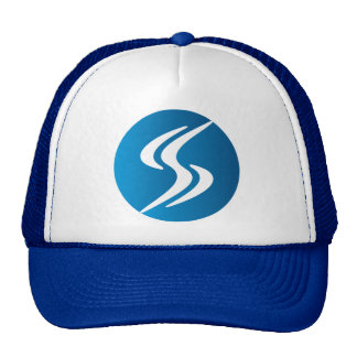 SIDESLIDER™ S-TURN LOGO TRUCKER BLUE TRUCKER HAT