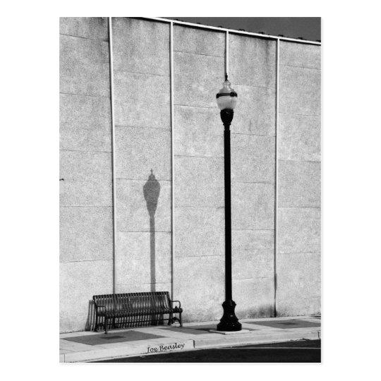 Sidewalk Bench Postcard