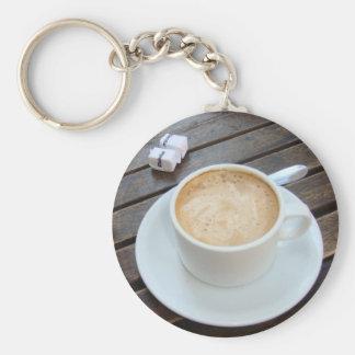 Sidewalk Cafe in Buenos Aires Basic Round Button Keychain