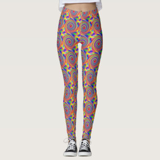 Sidewalk Chalk Swirl Leggings