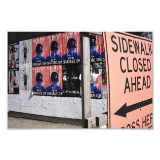 Sidewalk Closed New York Urban Street Photography Photo Print