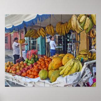 Sidewalk Fruit Vendor Print