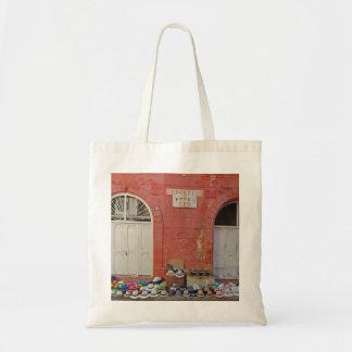 Sidewalk Hat Store - Cartagena Colombia Budget Tote Bag