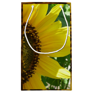 Sideways Sunflower Small Gift Bag