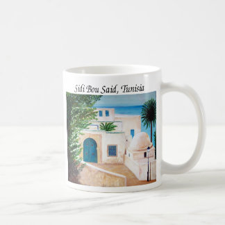 """Sidi Bou Said, Tunisia"" coffee mug"