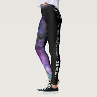 """""""Sidnee"""" Purple Abstract with strip Leggings"""