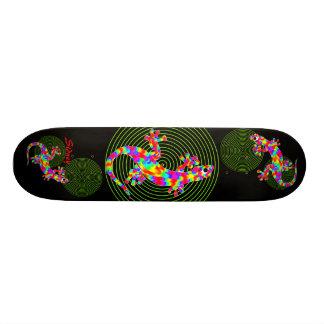 Sidney Salamander Green Circles Skateboard Deck