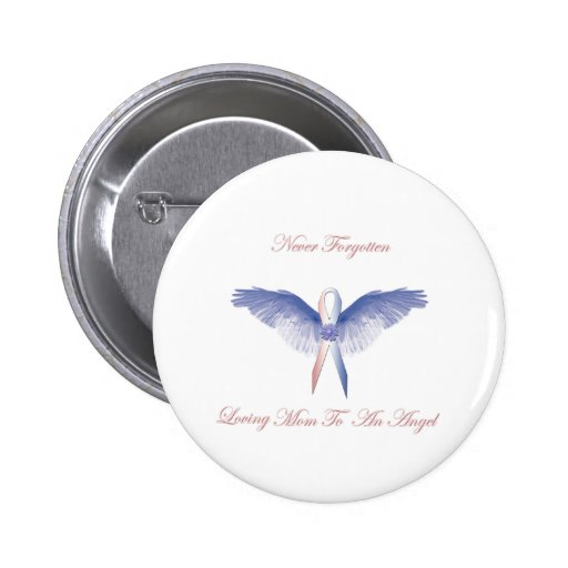 SIDS angel boy lost Pinback Buttons