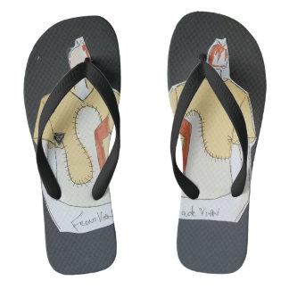 SieCel Fashion Illustration printed onto Flip-Flop Flip Flops