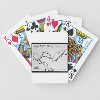 SieCel Fashion Shoe Drawing Print Bicycle Playing Cards