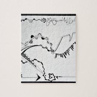SieCel Fashion Shoe Drawing Print Jigsaw Puzzle