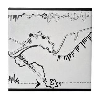 SieCel Fashion Shoe Drawing Print Tile