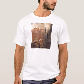 Siege of a Castle by Lajos Gulacsy T-Shirt