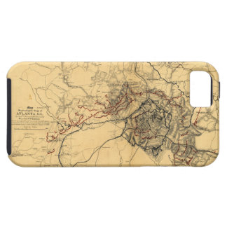 Siege of Atlanta Civil War Map July - August 1864 iPhone 5 Case