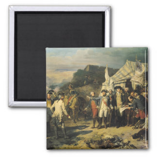 Siege of Yorktown, 17th October 1781, 1836 Square Magnet