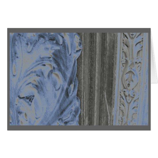 Siena marble in blue card