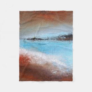 Siena Turquoise Abstract  Small Fleece Blanket