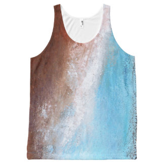 Siena Turquoise Abstract Tank Top