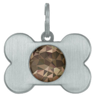 Sienna Abstract Low Polygon Background Pet ID Tag
