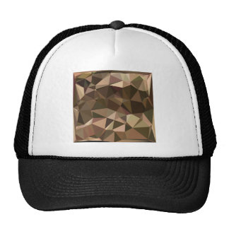 Sienna Abstract Low Polygon Background Trucker Hat