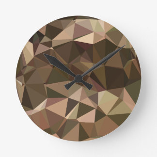 Sienna Abstract Low Polygon Background Wall Clocks