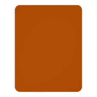 """Sienna brown color decor ready to customize 4.25"""" x 5.5"""" invitation card"""