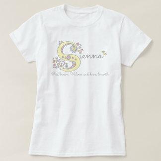Sienna girls S name meaning monogram tee