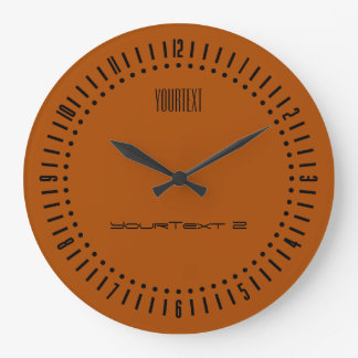Sienna Solid Color to Personalize on a Large Clock