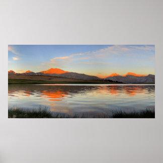 Sierra Crest Sunset - John Muir Trail Poster