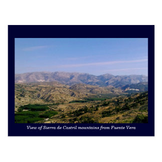 Sierra de Castril mountains, Granada, Spain Postcard