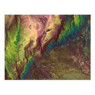Sierra de Velasco Satellite Image Postcard