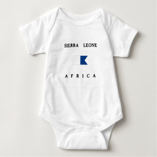 Sierra Leone Africa Alpha Dive Flag Baby Bodysuit