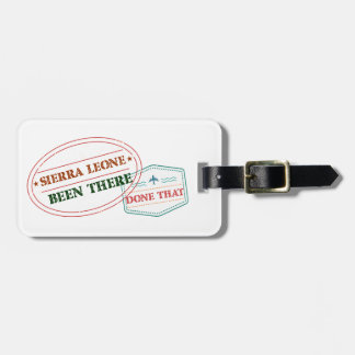Sierra Leone Been There Done That Luggage Tag