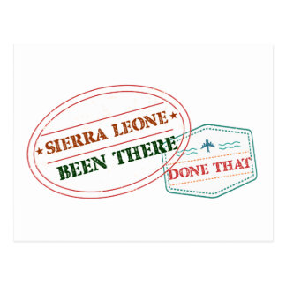 Sierra Leone Been There Done That Postcard