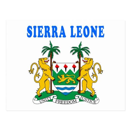 Sierra Leone Coat Of Arms Designs Postcard